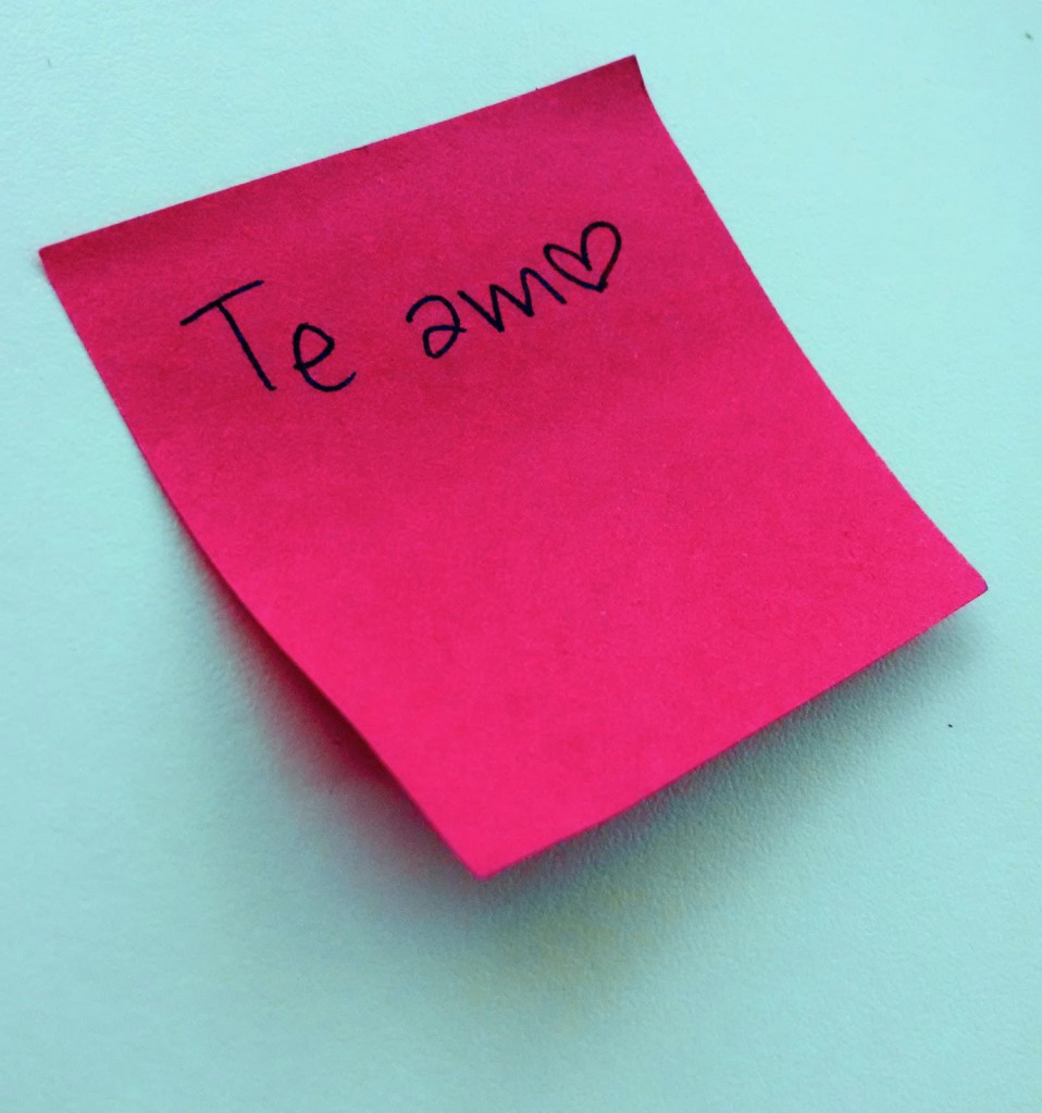 Post its románticos